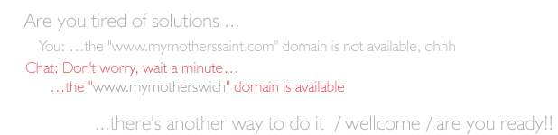 Advertising banner for booking domains on LMVweb